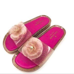 NEW!! Kate Spade Jelly Flower Flip Flop Sandals